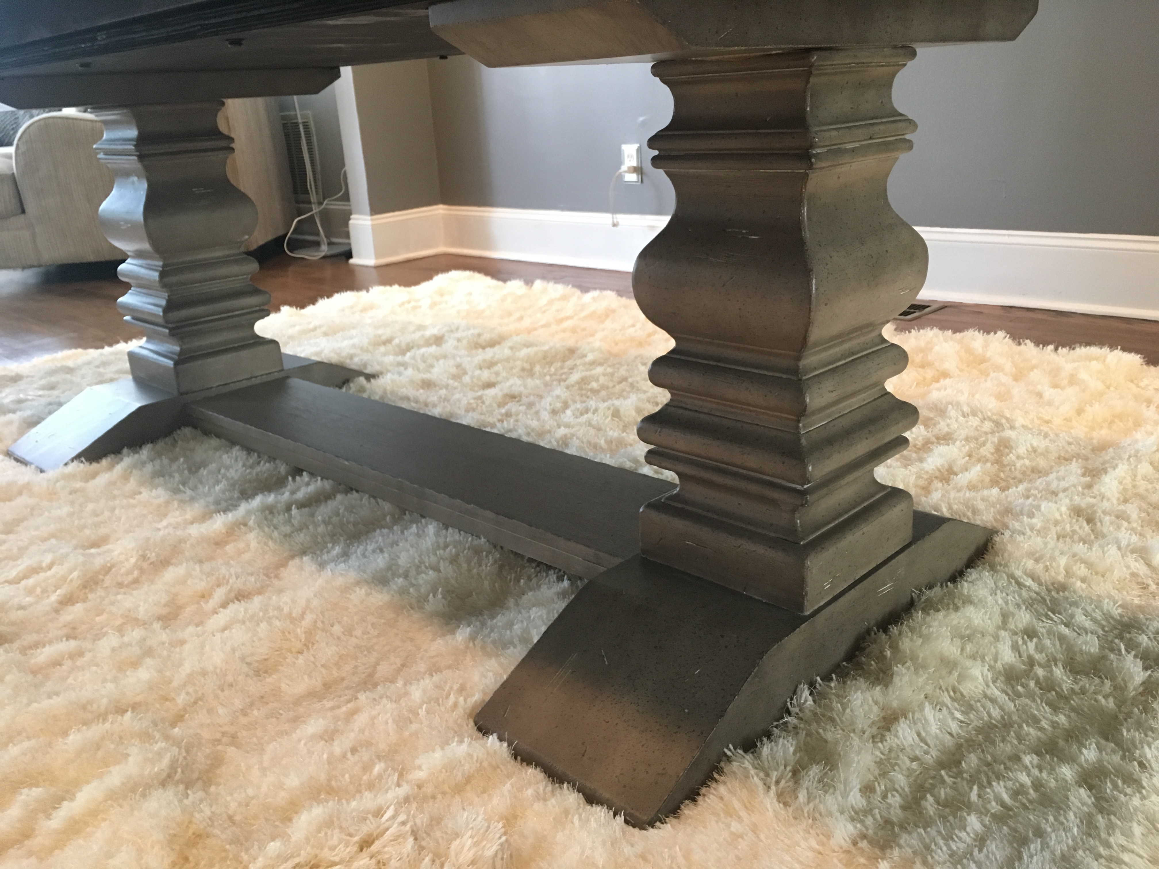 Prospect Hill Gray Rectangular Extendable Pedestal Dining