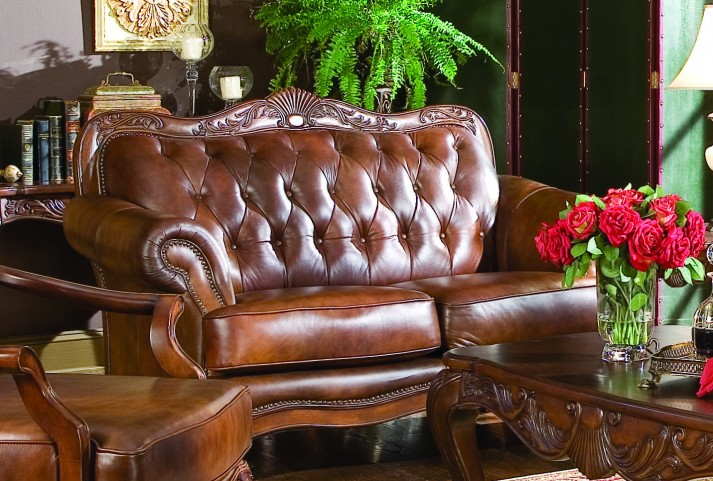 ... Leather Loveseat